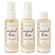 "3-teiliges Set ""Mind Love"", Öl, Spray und Cream, je 100 ml"