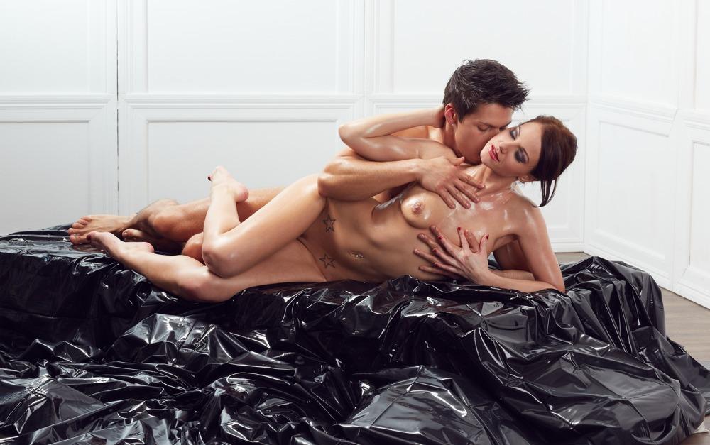 "Image of Bettlaken ""Orgy-Laken"" aus Lack, 200 x 230 cm"