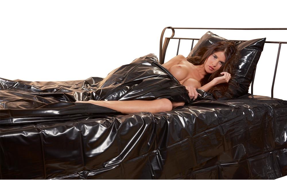 Image of Bettdeckenbezug aus Lack mit Einschubschlitz