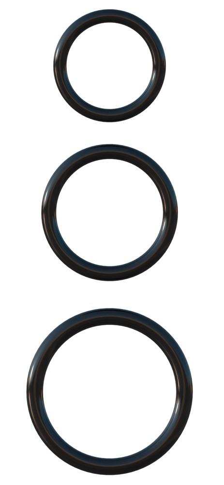 """Image of 3-teiliges Penisring-Set """"Silicone 3-Ring Stamina Set"""", aus Silikon"""