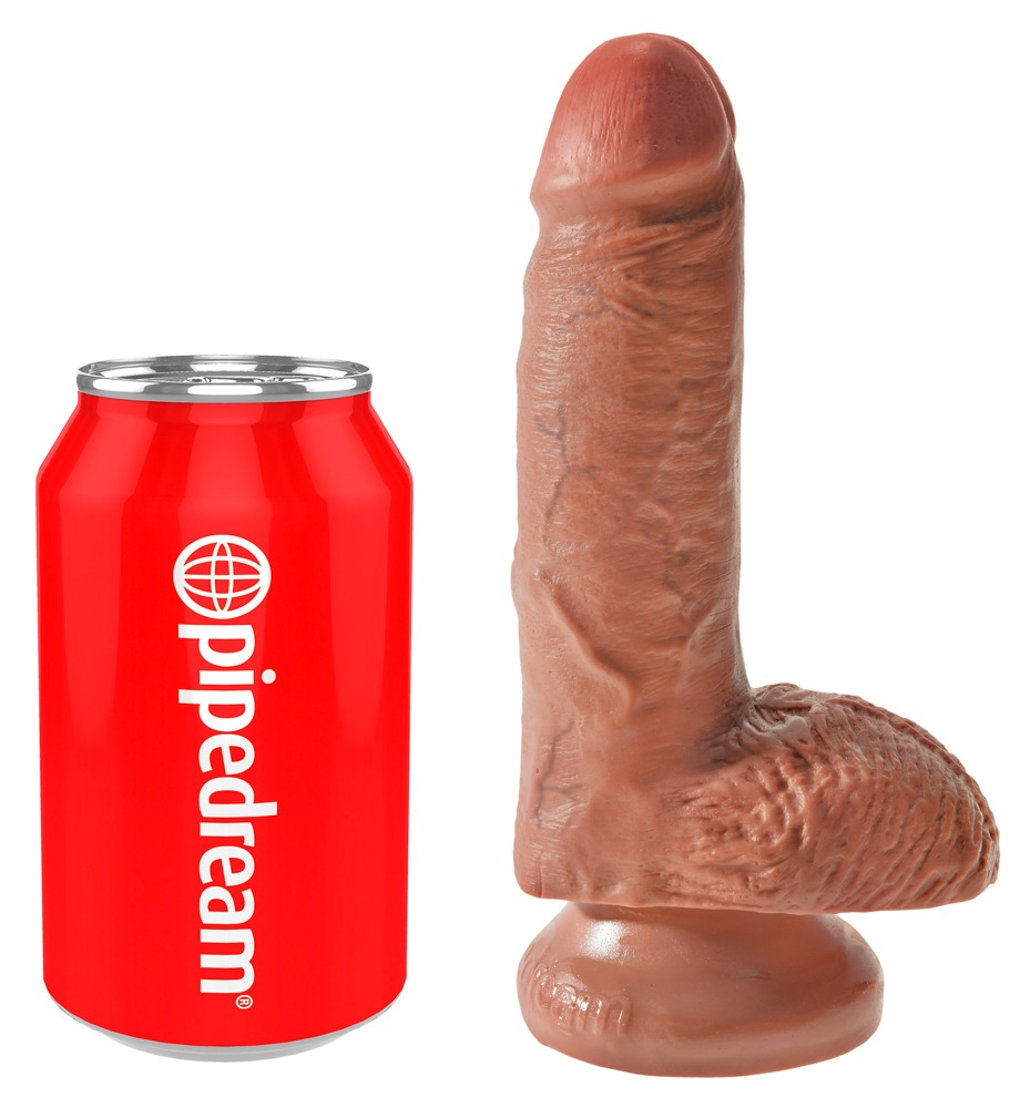 "Image of DIldo ""7"" Cock with Balls"", 17,8 cm"