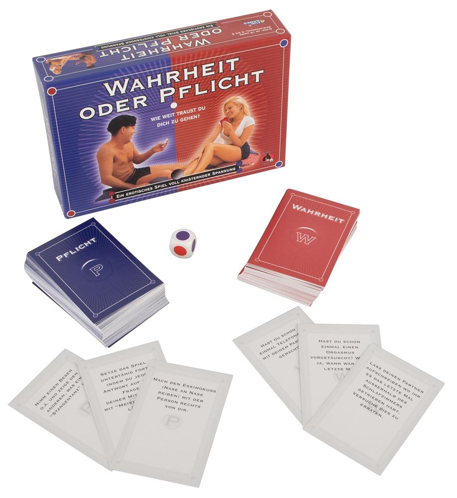 """Image of Kartenspiel """"Wahrheit oder Pflicht"""" für die erotische Partyrunde oder zu zweit"""