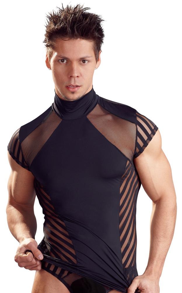 shirt in streifen optik mit elastischem stehkragen m jetzt bei. Black Bedroom Furniture Sets. Home Design Ideas