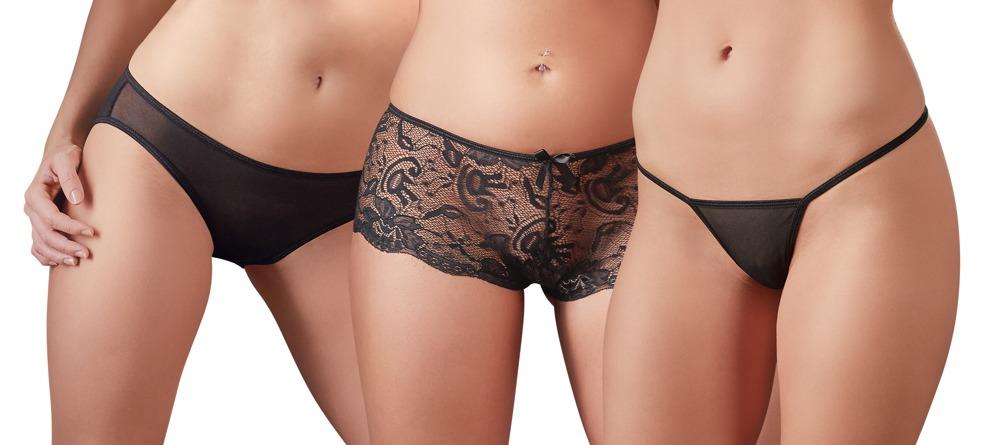 Image of 3-teiliges Set mit String, Panties und Slip