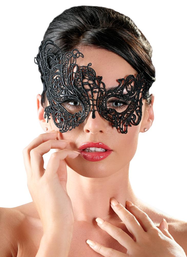 Image of Augenmaske aus filigraner, asymmetrischer Stickerei