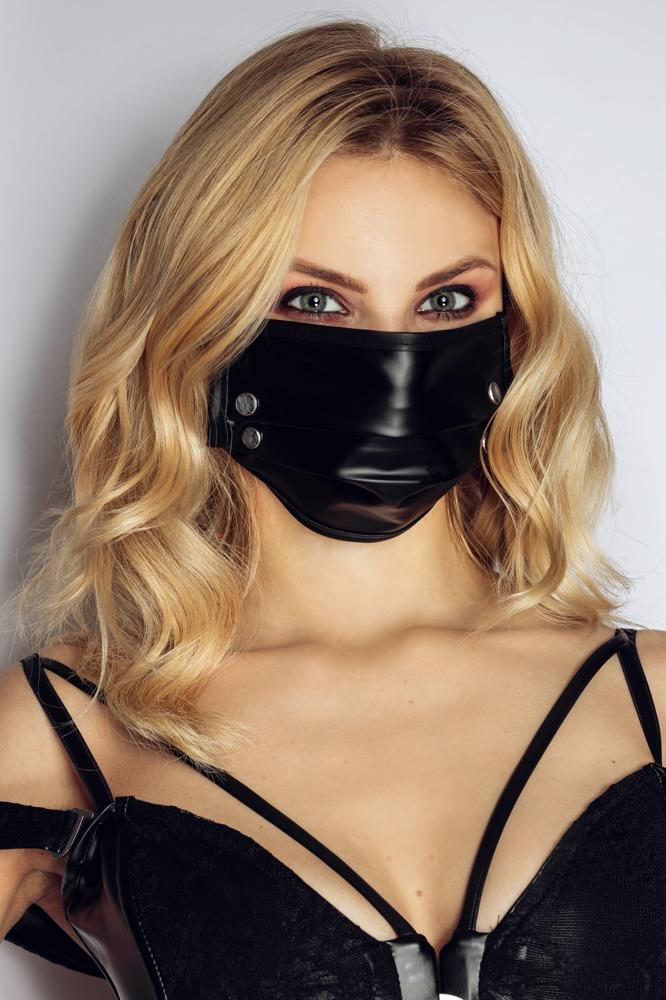 """Image of Maske """"Mund-Nasen-Maske"""" mit Nieten"""