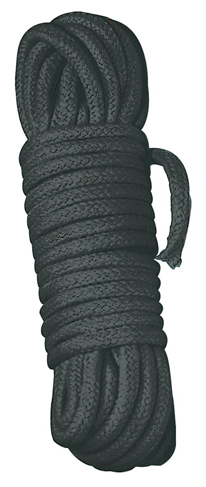 Image of Bondageseil aus Baumwolle, Ø 0,7 cm, schwarz