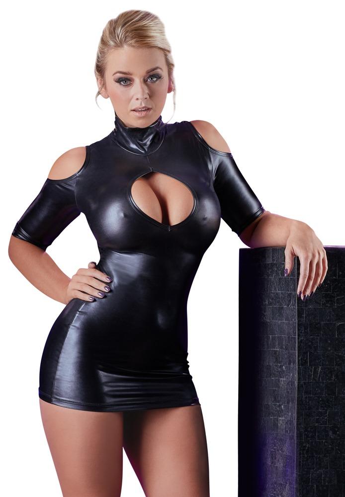 Image of Kleid mit Cold-Shoulder-Cut-Outs