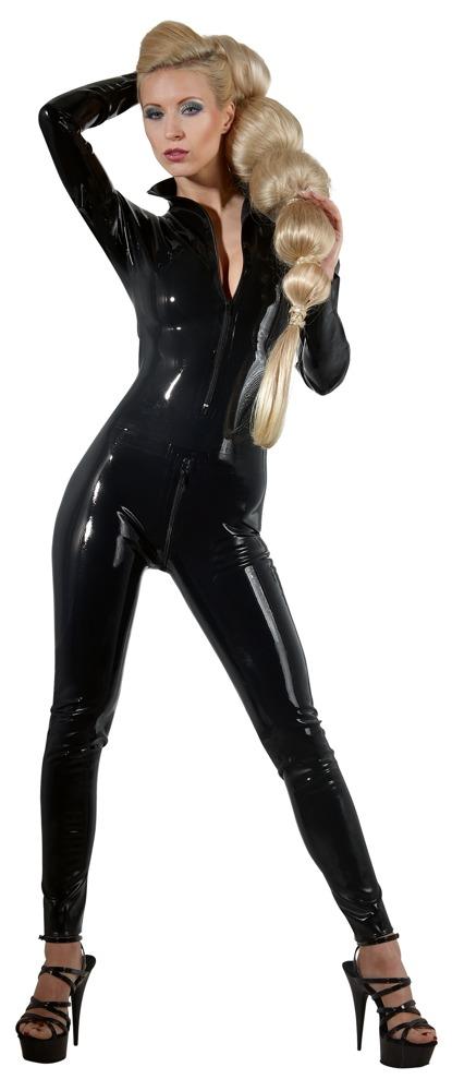 Image of Catsuit aus Latex mit Front- und Schritt-Reißverschluss